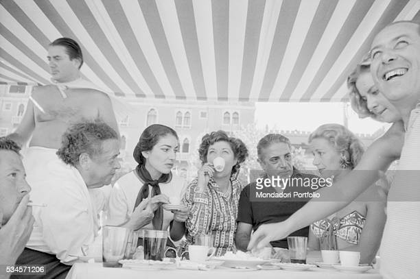 Greek soprano Maria Callas Greek shipping tycoon Aristotele Onassis Italian countess Anna di Castelbarco and American journalist Elsa Maxwell...