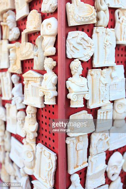 greek souvenirs, athens, greece - jake warga stock pictures, royalty-free photos & images
