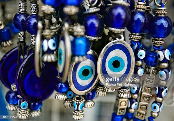 greek souvenirs - herakleion stock photos and pictures