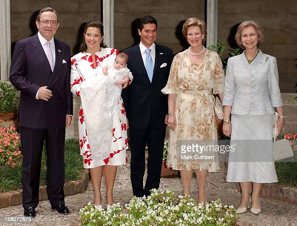 Greek Spanish Royals Attend The Christening Of Princess Alexia Of Greece Carlos Morales Quintana'S Daughter Arrietta In Barcelona