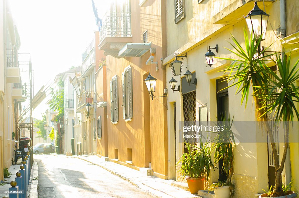 Greek street : Stock Photo