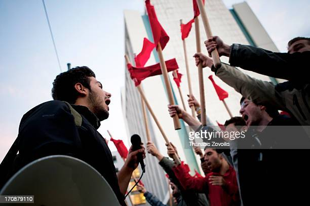 CONTENT] Greek students shout slogans during a rally marking the 39th anniversary of the Athens Polytechnic uprising in 1973 The Athens Polytechnic...