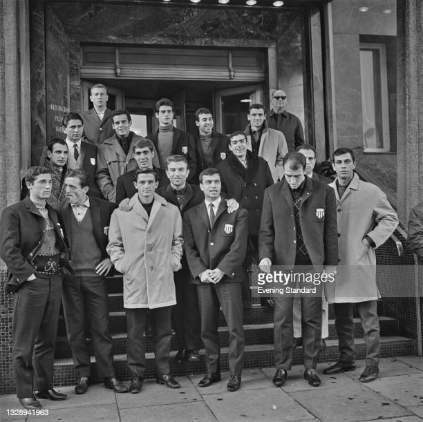 Greek team Olympiacos FC, in London to play West Ham United in the 2nd round 1st leg of the European Cup Winners' Cup at Upton Park that day, UK,...