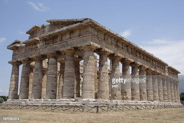 greek temple of paestum - pejft stock pictures, royalty-free photos & images