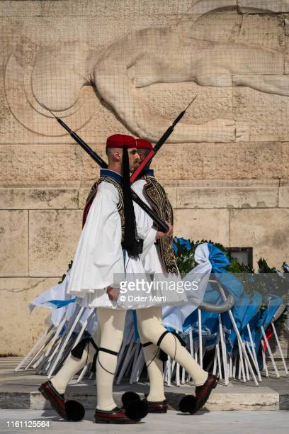 greek traditional guard, athens - didier marti stock photos and pictures