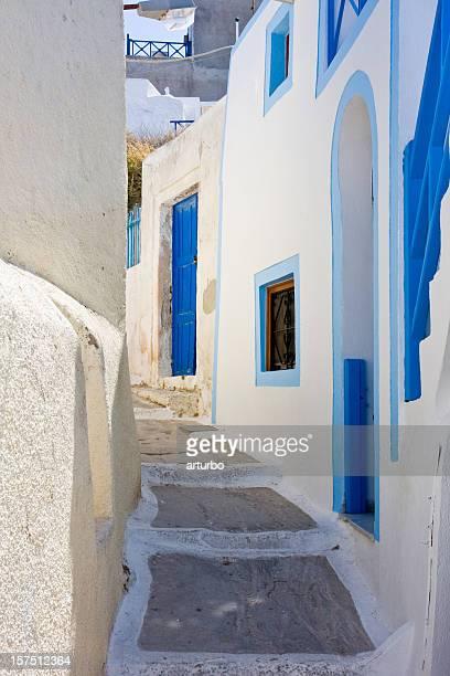 greek village alley