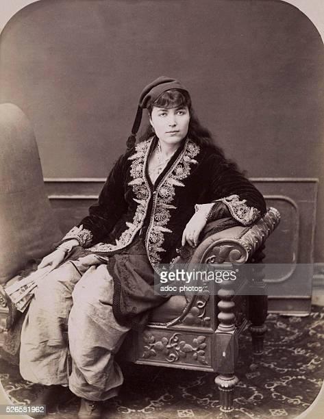 Greek woman in Smyrna today Izmir Ca 1890