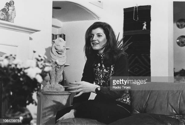 GreekAmerican author Arianna Stassinopoulos photographed in her home for Radio Times in connection with her appearance on the television show 'Call...