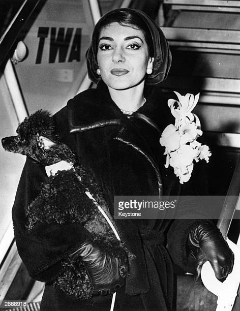 GreekAmerican operatic soprano Maria Callas arrives at Idlewild Airport in New York to appear on the television show 'Person to Person'