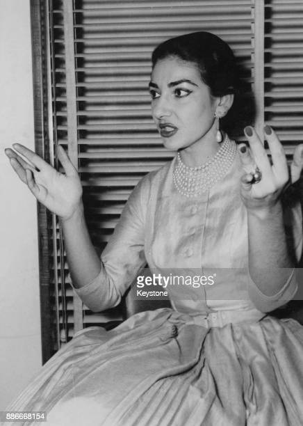 Greek-American soprano Maria Callas , 31st January 1957.