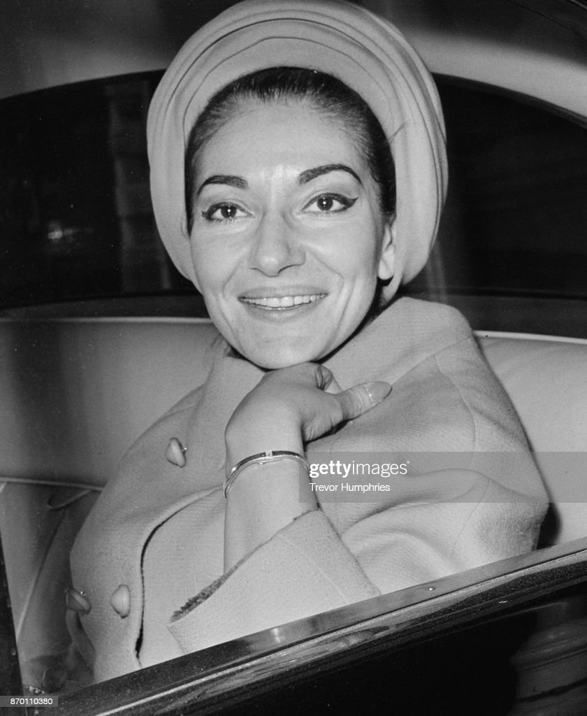 Greek-American soprano Maria Callas (1923 - 1977) in London after a hearing in the law courts, 19th April 1967. She and her husband Aristotle Onassis are suing their former friend Panaghis Vergottis over a 3 million dollar shipping deal.