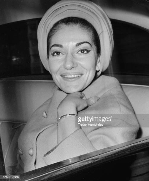 Greek-American soprano Maria Callas in London after a hearing in the law courts, 19th April 1967. She and her husband Aristotle Onassis are suing...