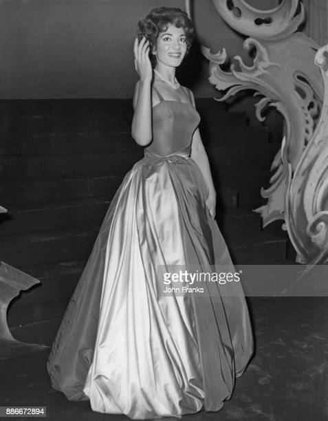 Greek-American soprano Maria Callas makes a recording at the Hackney Empire in London, for the Associated-Rediffusion television gala show, 3rd...