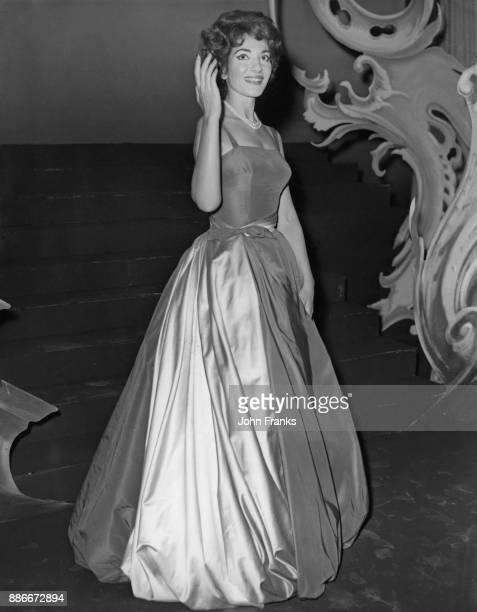 GreekAmerican soprano Maria Callas makes a recording at the Hackney Empire in London for the AssociatedRediffusion television gala show 3rd October...
