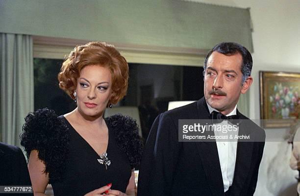 Greekborn Italian actress Yvonne Sanson and Italian actor Riccardo Garrone in the film Il ragazzo che sorride 1968