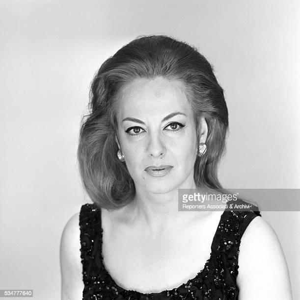 Greekborn Italian actress Yvonne Sanson posing Rome 10th June 1966