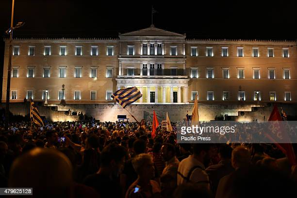 Greeks celebrating the results of the referendum Millions of Greeks have voted in a crucial referendum on whether to accept the terms of an...