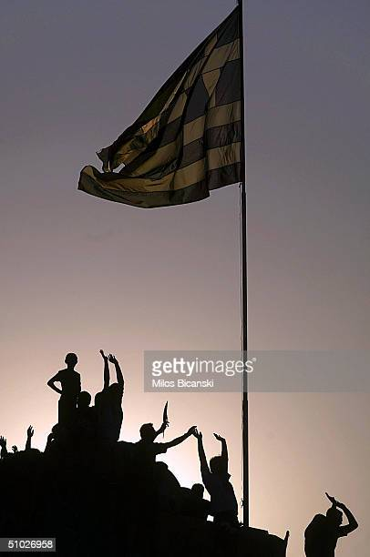 Greeks Salute The Return Of Their Victorious Football Team