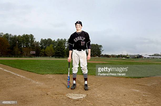 Greely High School baseball player Sam Porter has overcome concussions from soccer to be a viable member of the team in Greely on May 16 2014