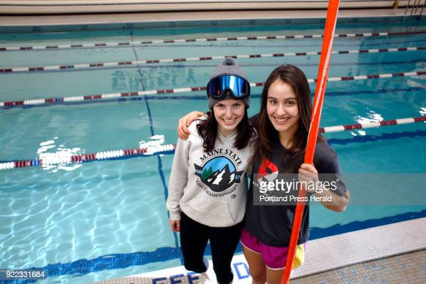 Greely seniors Greta Van Curan left and Maggie McCormick are twosport athletes this season alone In addition to swimming Van Curan is an alpine ski...