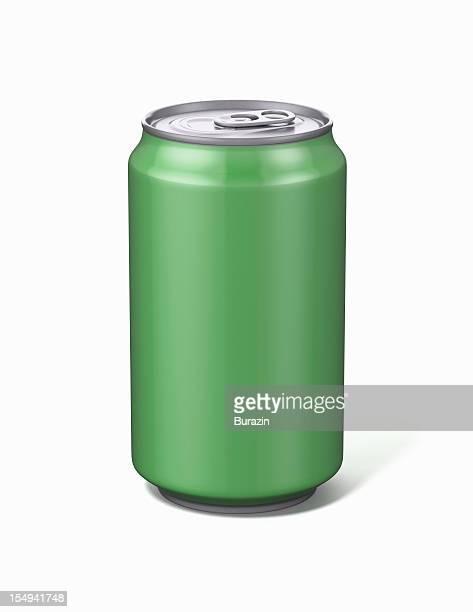 Green Aluminium Soda Can