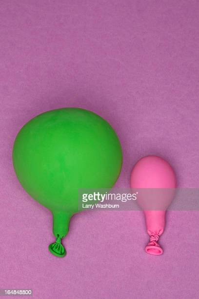Green and pink balloons
