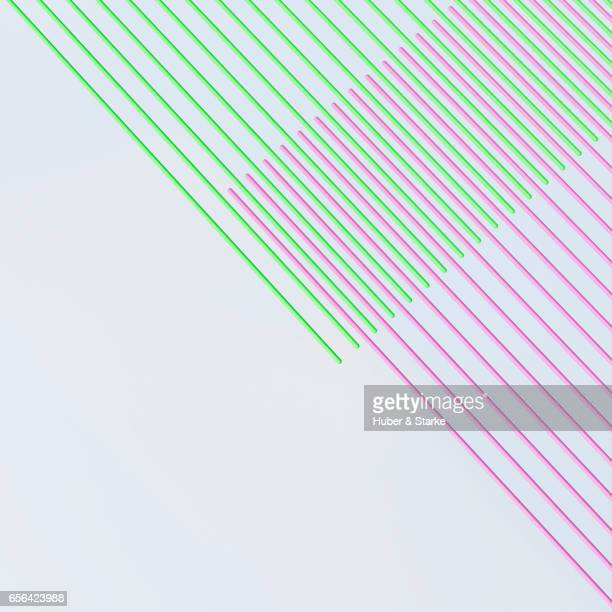 green and pink bars