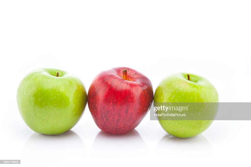 Green and red apples : Stock Photo