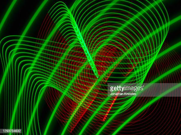 green and red light lines - glowing stock pictures, royalty-free photos & images