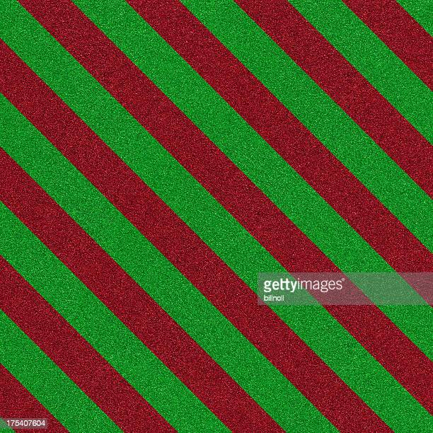 green and red stripe seamless glitter