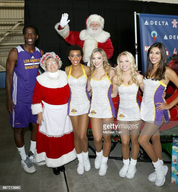 C Green and the Laker Girls join Delta Air Lines in hosting 7th Annual Holiday In The Hangar event held at LAX Airport on December 6 2017 in Los...