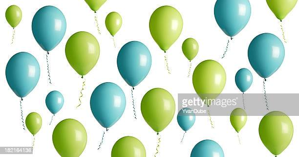 Vert turquoise et ballons de fête