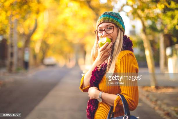 green apple - autumn mood - october stock pictures, royalty-free photos & images