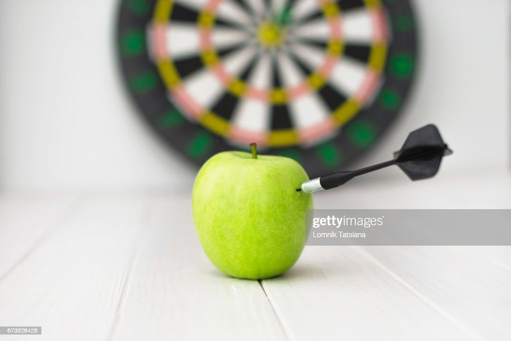 Green Apple Dart Stock Photo Getty Images