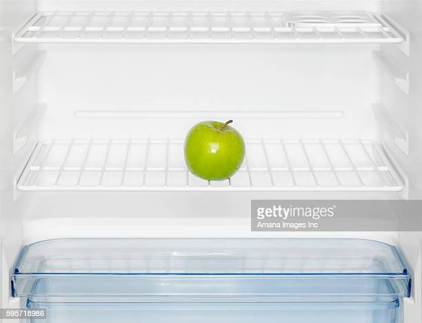 Green Apple in Refrigerator