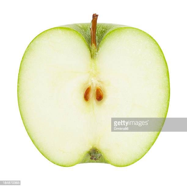 Green Apple Portion with Clipping Path