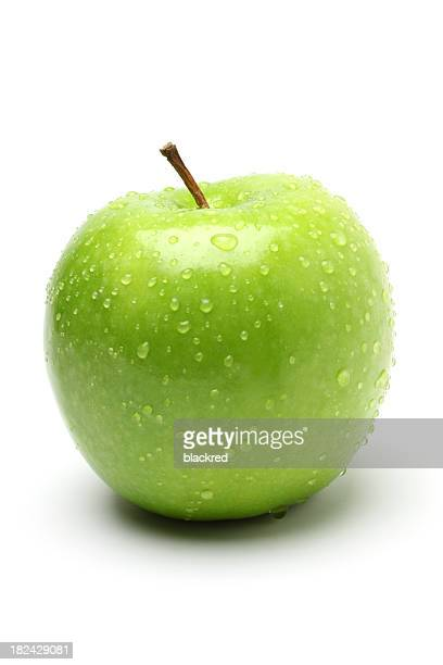 Green Apple with Droplet