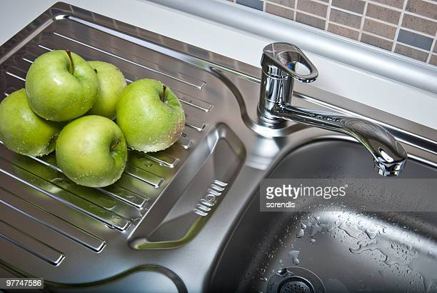 Green Apples in a modern kitchen