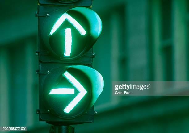 Green arrows on traffic signal