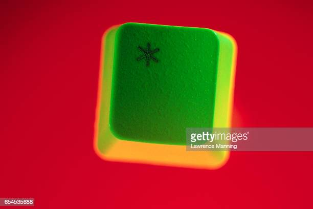 Green Asterisk Keyboard Key
