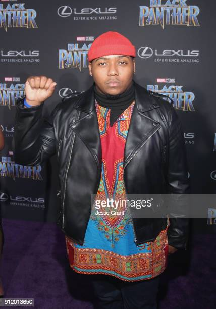 J Green at the Los Angeles World Premiere of Marvel Studios' BLACK PANTHER at Dolby Theatre on January 29 2018 in Hollywood California