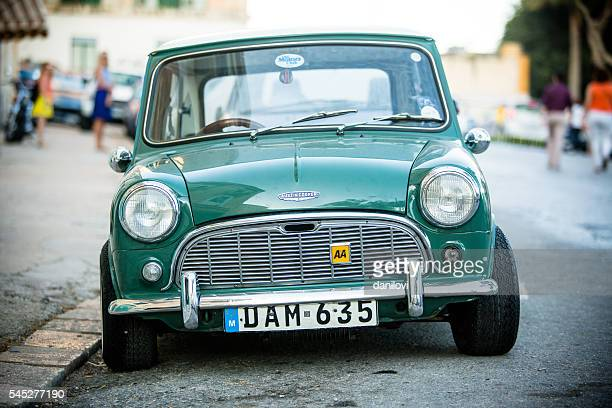 green austin mini cooper - mini cooper stock pictures, royalty-free photos & images