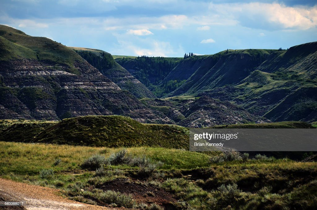 Green Badlands Canyon : Stock Photo