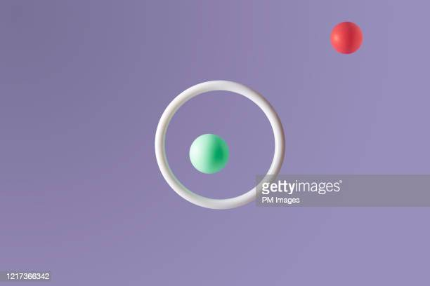 green ball in hoop, red ball excluded - sports target stock pictures, royalty-free photos & images