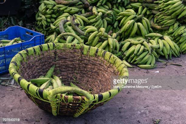 Green Bananas For Sale In Market