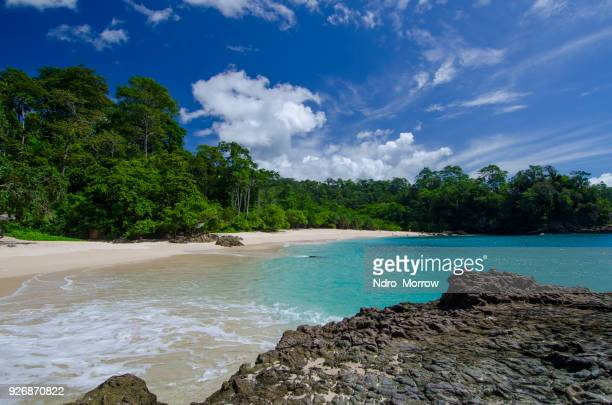 green bay beach, banyuwangi, east java, indonesia - east java province stock photos and pictures