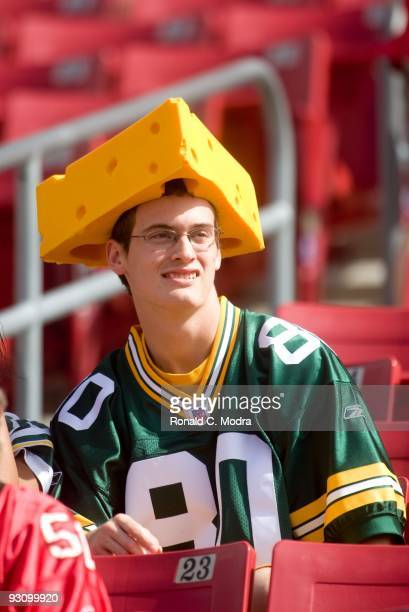 Green Bay Packer fan during a NFL game between the Green Bay Packers and the Tampa Bay Buccaneers at Raymond James Stadium on November 8 2009 in...