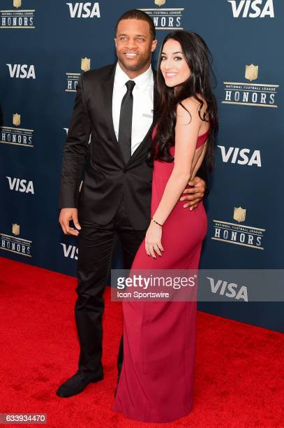 Green Bay Packer Randall Cobb and his wife on the Red Carpet during the NFL Honors Red Carpet on February 4 2017 at the Worthan Theater Center...