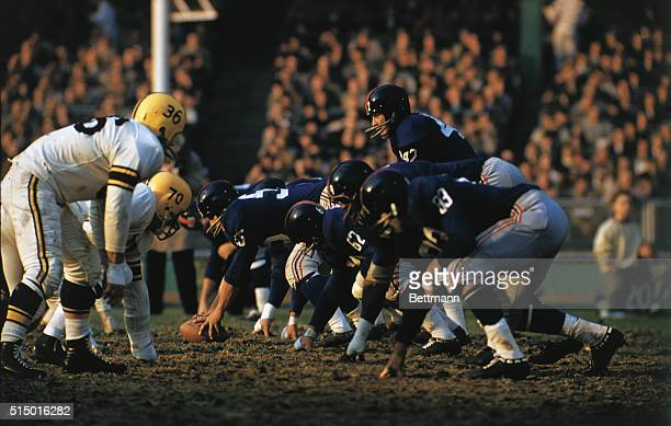 Green Bay Packers and New York Giants game in progress with Charlie Conerly