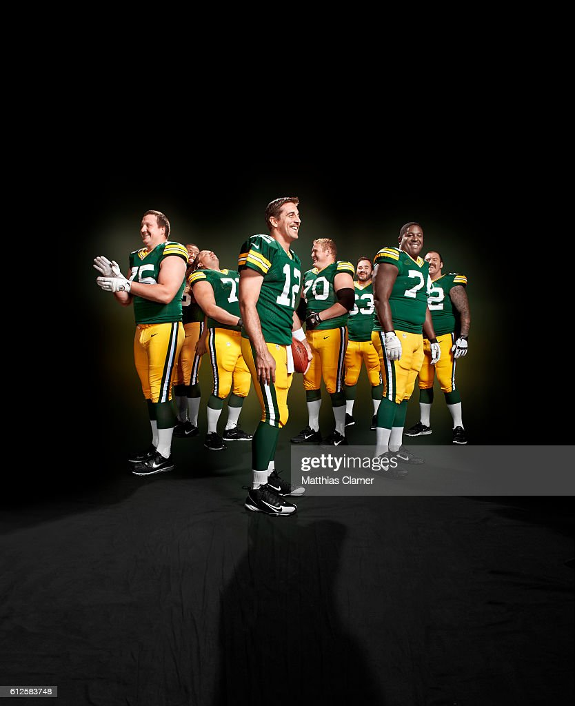 Green Bay Packers are photographed for ESPN- The Magazine on August 13, 2012 in Green Bay, Wisconsin.